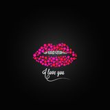 Lips kiss lipstick love design background Royalty Free Stock Photos