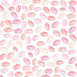 Lips and kiss, print illustration design element pattern Stock Image