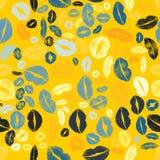 Lips Kiss Prints Seamless Pattern Background Royalty Free Stock Photography
