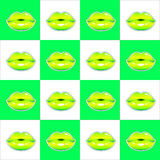 Lips lemon seamless pattern. Vector. Bright background Royalty Free Stock Images