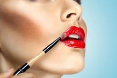 Lips like magnet. Stock Photo