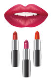 Lips and lipstick Stock Photography