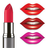 Lips and lipstick Stock Image