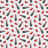 Lips and lipstick Royalty Free Stock Image