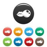 Lips make gum balloon icon, simple style vector illustration