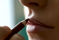 Lips make-up Stock Image