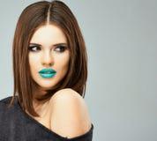 Lips make up. Beauty woman Royalty Free Stock Image