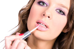 lips make up woman Στοκ Φωτογραφίες