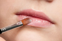 Lips make-up zone Stock Image