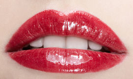 Lips makeup Royalty Free Stock Photography