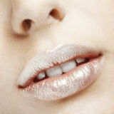 Lips makeup Stock Images