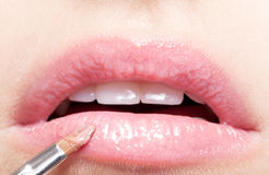 Lips makeup Royalty Free Stock Images