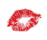 Lips mark stock photo