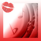 Lips On Music Abstract Royalty Free Stock Photography