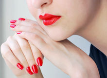 Lips and Nails Royalty Free Stock Photo