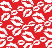 Lips pattern. Vector illustration of a lips pattern Royalty Free Stock Photography