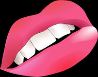 Lips, Pink, Smiley, Mouth, Teeth Royalty Free Stock Images