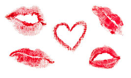 Lips prints Stock Photo