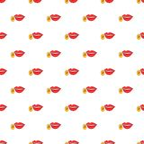 Lips pronounce letter a pattern, cartoon style. Lips pronounce letter a pattern. Cartoon illustration of lips pronounce letter a vector pattern for web Royalty Free Stock Photos