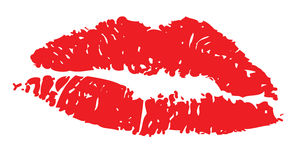 Lips red illustration Royalty Free Stock Photos