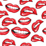 Lips seamless pattern Stock Photography