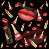 Lips seamless pattern Royalty Free Stock Photo