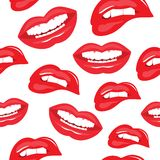 Lips seamless pattern Royalty Free Stock Photo