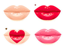 Lips set Stock Photos