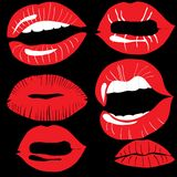 Lips set Royalty Free Stock Image