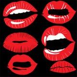 Lips set Royalty Free Stock Image