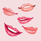 Lips. Set of a glossy lips Stock Images