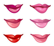 Lips set. On a white background Royalty Free Stock Photos