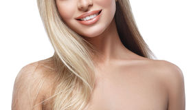 Free Lips Shoulders Chin Nose Smile Beautiful Woman Blond Portrait Face Studio Stock Image - 66358571