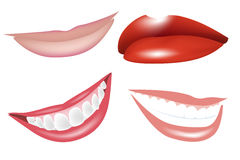 Lips and smiles Stock Images