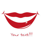 Lips and smiles Royalty Free Stock Photography
