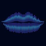 Lips stylized effect equalizer light Stock Photos