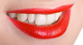 Lips and teeth Royalty Free Stock Photo