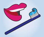 Lips Teeth Brush Stock Image