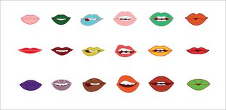 Lips vector collection. royalty free illustration