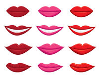 Lips vector  illustration On White Background Stock Photo