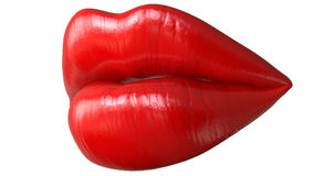 Lips women,kiss,mouth. Red kissing sexy lips, 3D render isolated on white background. Lips women,kiss,mouth. Red kissing sexy lips, 3D render isolated on white Royalty Free Stock Image