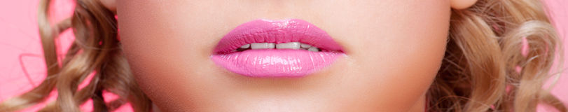 Lips of young woman Royalty Free Stock Photography