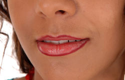Lips of young woman. Stock Photography