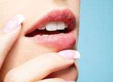 Lips-zone make-up Stock Photo