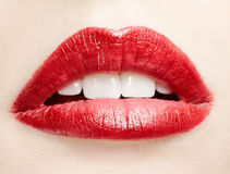 Lips zone makeup Stock Images