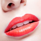Lips zone makeup Royalty Free Stock Images