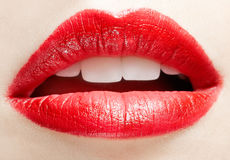 Lips zone makeup Stock Photography