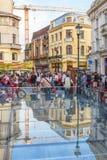 Lipscani,布加勒斯特,罗马尼亚 免版税库存图片