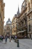 Lipscani de centro histórico viejo Imagenes de archivo