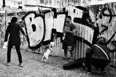Lipscani ulica w Bucharest fotografia stock
